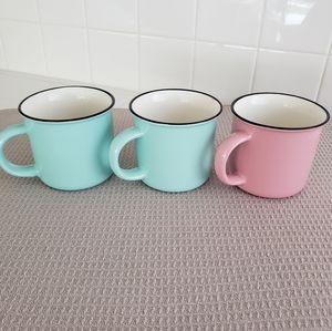 Set Of Three Espresso Mugs